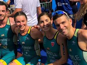 Silver lining for Aussies in mixed teams triathlon