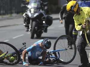 Star shares shocking injury pic