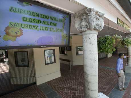 Zoo officials closed the park before it had opened for the day, after the incident happened early in the morning. Picture: Brett Duke/The Times-Picayune/AP