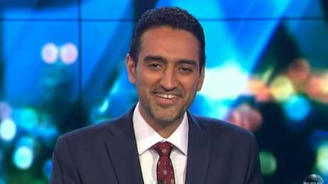 "Waleed Aly appeared bemused by Mr Farage's claims the EU's institutions were ""a new form of communism"". Picture: Channel 10"