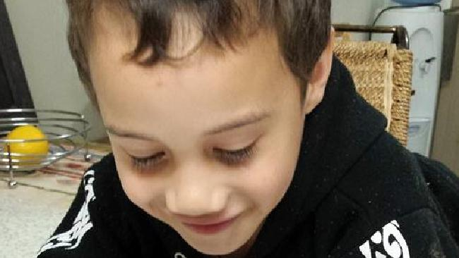 Rua pictured on his fifth birthday. The eight-year-old boy was killed over the weekend.