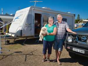 Lyn Ley and Des Kennedy, camping at the Gladstone