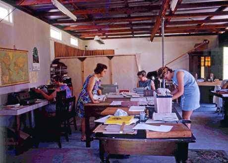 Noosa News  staff working in the Tewantin studio in 1969.
