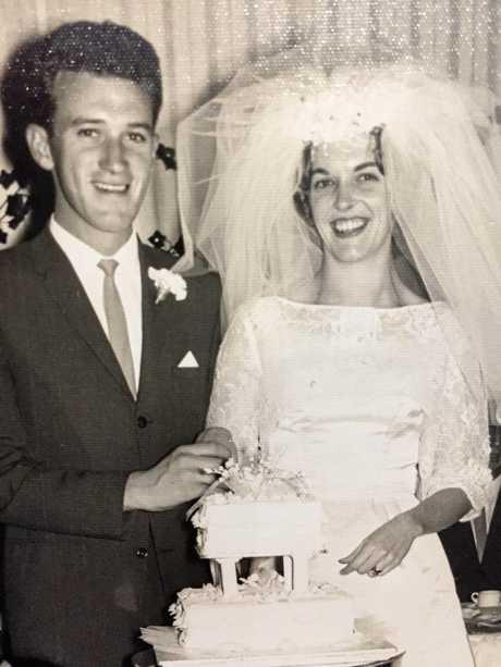 Les and Elaine Neilson on their wedding day.