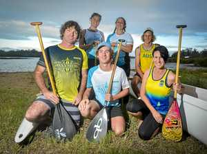 Canoe Point crew in stroke against countries and clubs
