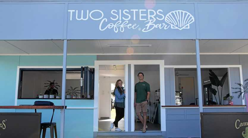FAMILY AFFAIR: Carli and Dan Richards in their revamped coffee shop.