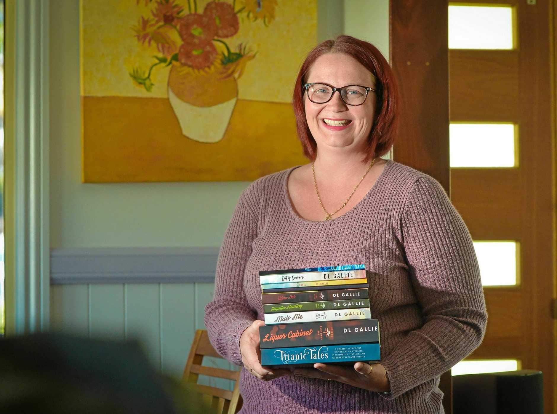THE WRITE STUFF: Author DL Gallie with her published novels