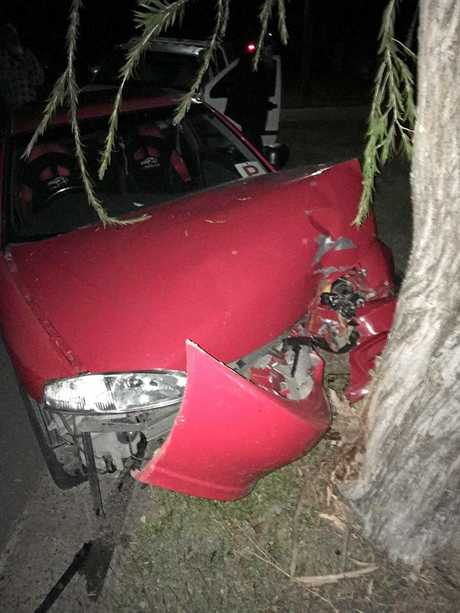 Teenager, Abbie Clayton sustained only minor injuries after a late night crash in Rocky on Sunday night.