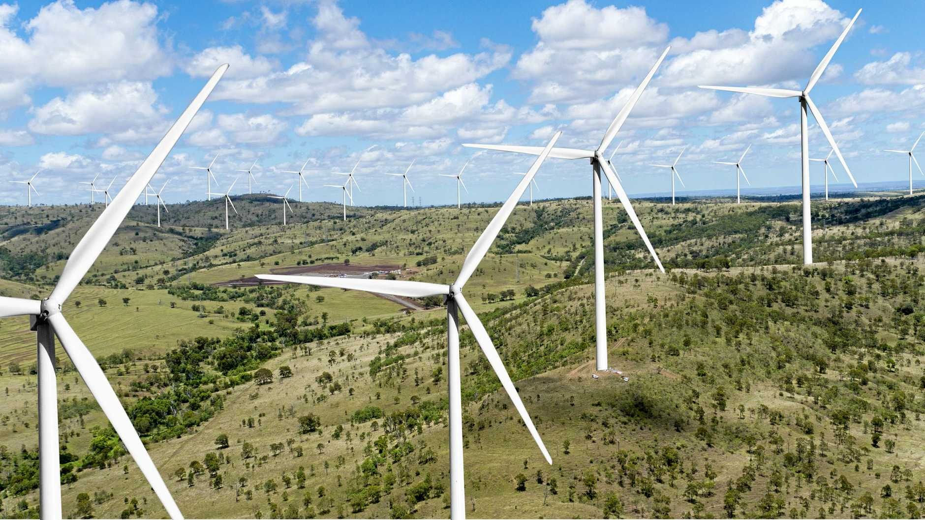 Coopers Gap Wind Farm, Artist Impression, Turbines, electricity, South Burnett, Western Downs, Bunya Mountains, Cooranga North