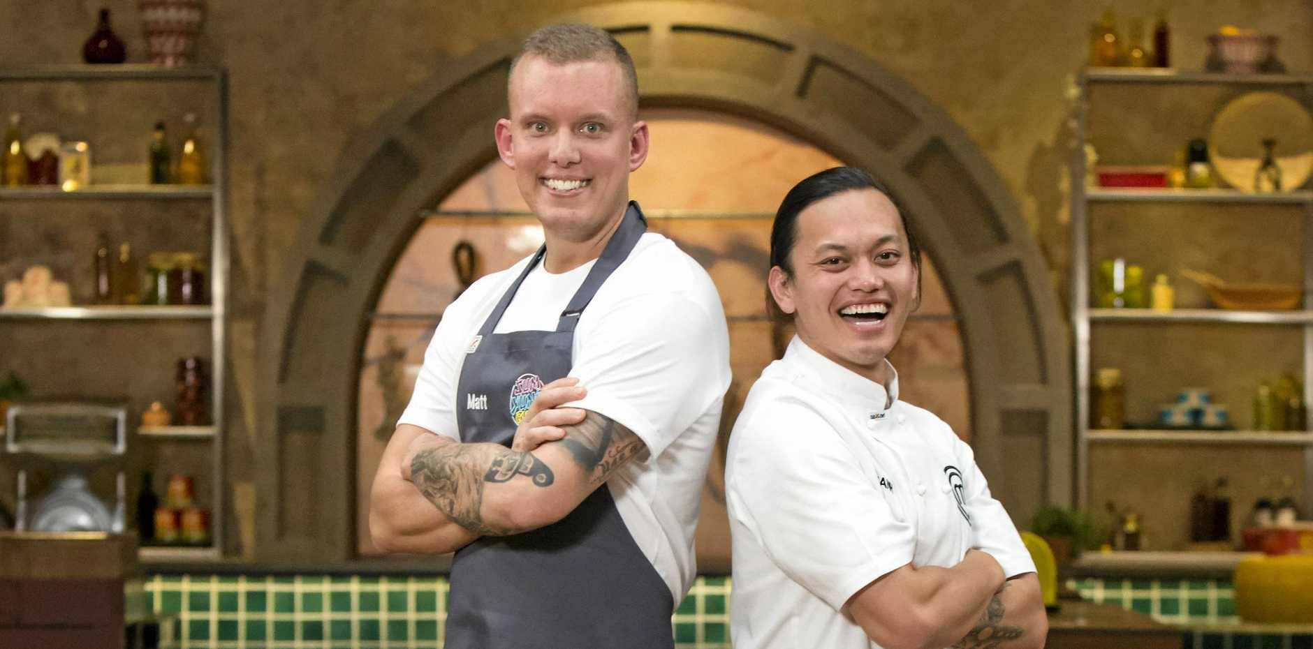 BACK ON TV: MasterChef alumni Matt Sinclair returned as a guest chef to cook against contestant Khanh Ong.