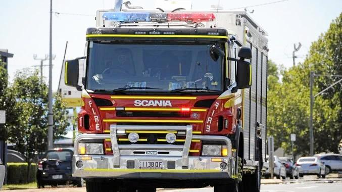 ON THE GO: Gladstone's fire fighters have been kept busy this afternoon.