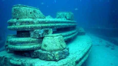 A bench which has become a fish habitat Picture: Neptune Memorial Reef