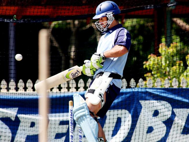 Johns has a hit in the nets ahead of his T20 debut. Pic: Sam Mooy.