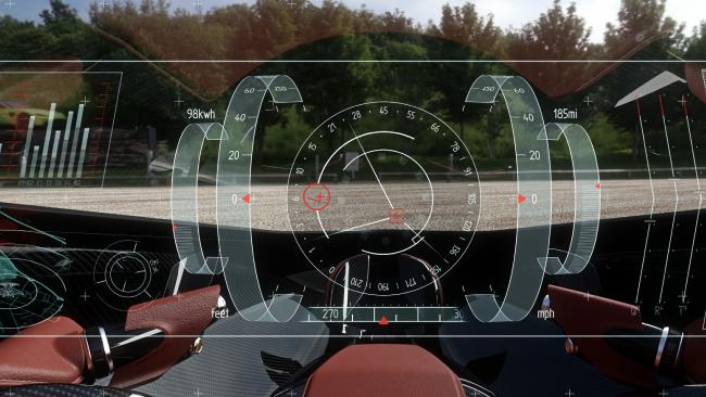 Future flag fall: Virtual instrument panel on the autonomous drone.