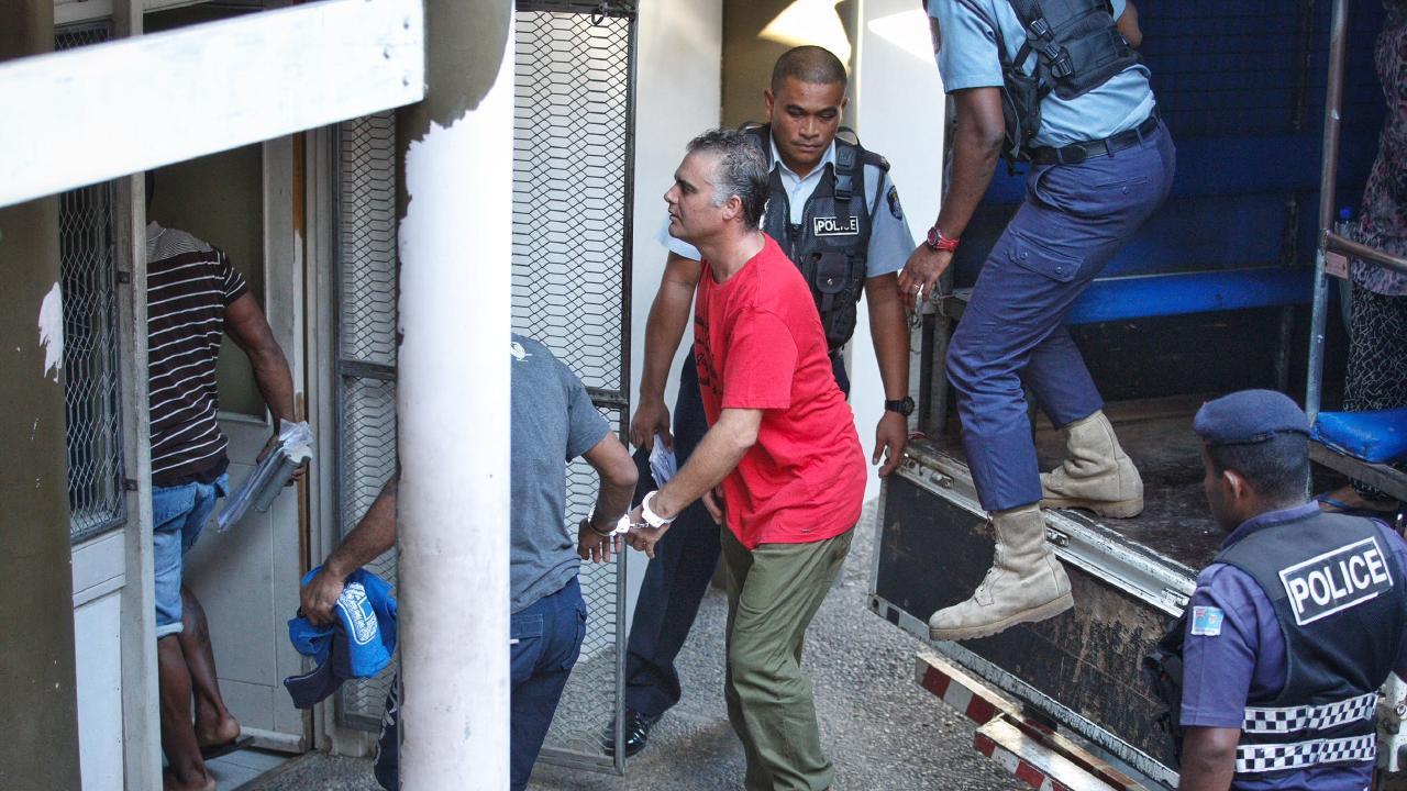 John Nikolic arriving at the Lautoka High Court complex. Picture: Mark Stewart/ News Corp Australia