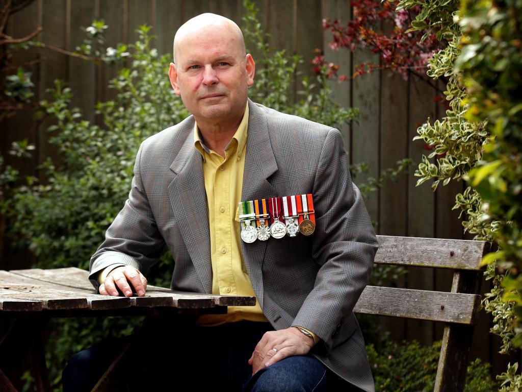 Former staff sergeant David Hartshorn says Trevor Ruthenberg is unfit for election. Picture: Mark Calleja