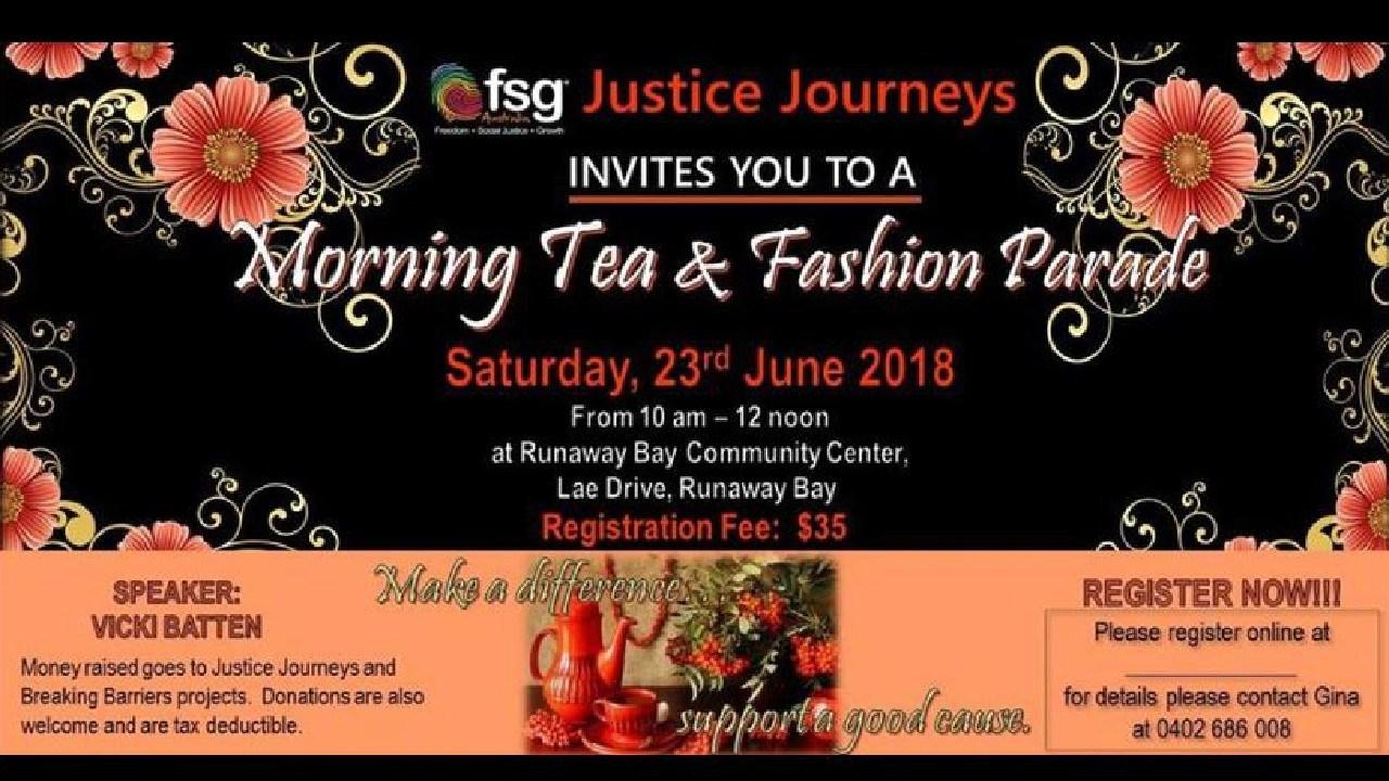 FSG justice journeys Africa fundraiser banner.