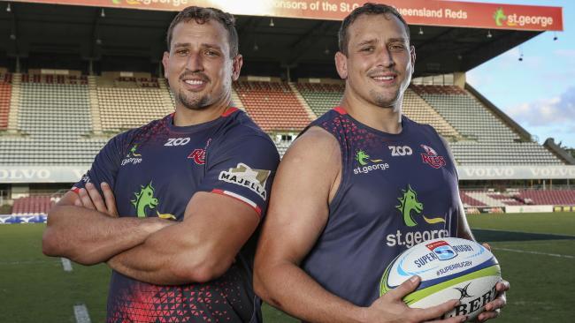 Twins JP (L) and Ruan Smith. Photo: Brendan Hertel, QRU