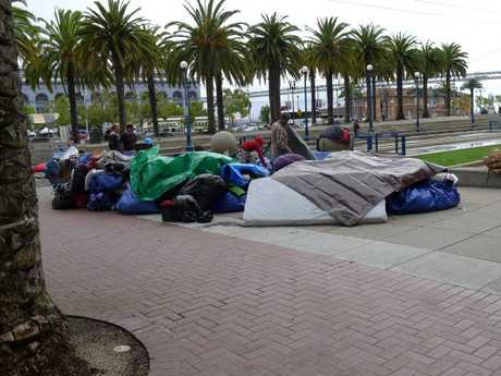 Homelessness is a big problem. Picture: Thomas Cloer