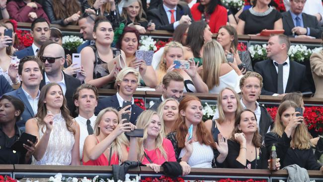 Racegoers party during a Jason Derulo concert after The Everest Day at Royal Randwick Racecourse on October 14 last year. Picture: Mark Evans/Getty Images