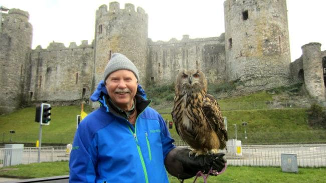 Don Parrish at Conway Castle. Picture: Caters News