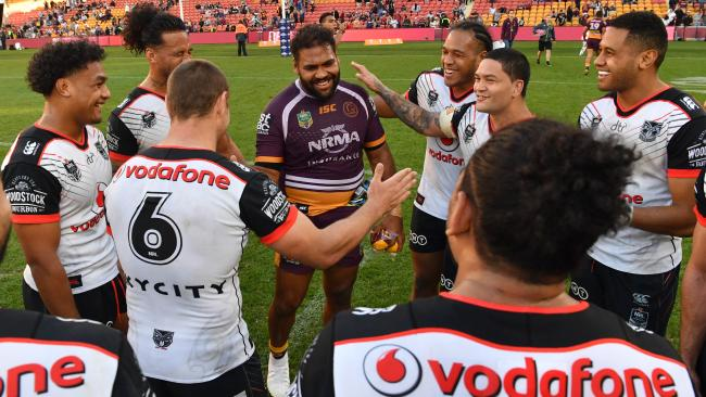 Sam Thaiday was touched by the gesture. (AAP Image/Darren England)