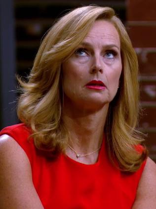 Naomi Simson isn't impressed with Steve's antics.