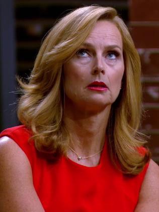 Naomi Simson isn't impressed with Steve's antics.