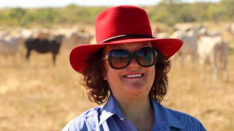 Gina Rinehart at her Helen Springs cattle station.