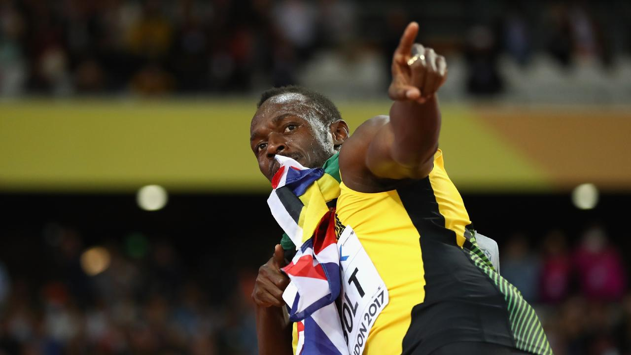 Usain Bolt of Jamaica, you're the man. Picture: Michael Steele/Getty Images
