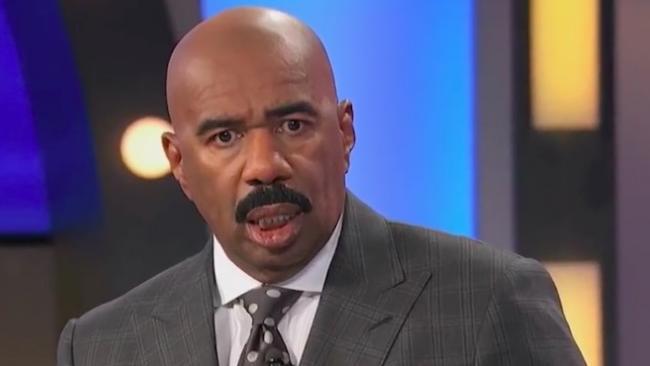 US Family Feud host Steve Harvey was left stunned by a celebrity guest's answer.