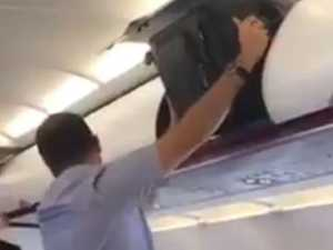 Humiliating flight fail caught on camera