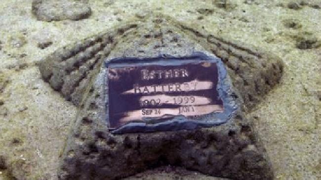 A memorial stone. Picture: Neptune Memorial Reef