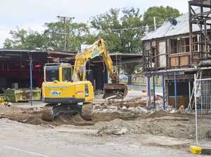 LAST DRINKS: Historic city pub partially demolished
