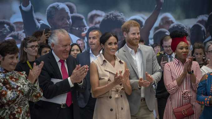 Prince Harry and Meghan visit Nelson Mandela tribute in London