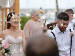 Giveaway wedding at Clarion on the Mackay Marina