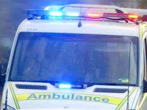 Driver thrown from ute during rollover