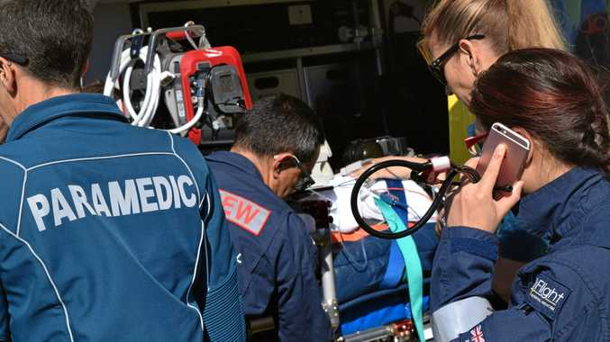 The Brisbane LifeFlight transported the injured woman to the hospital.