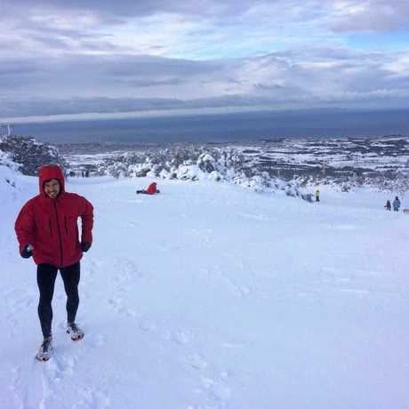 James McAlloon is preparing for a 217km run from the New South Wales coastal town of Tathra to the summit of Australia's greatest peak, Mt Kosciuszko.