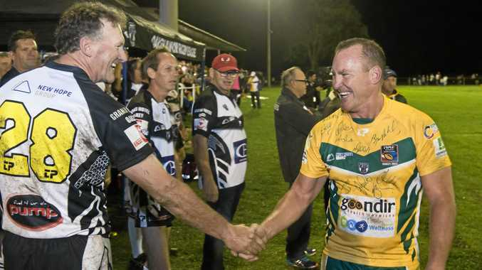 LEGEND: Former Bronco Kevin Campion played for Australian Allstars against the Oakey Bears All Stars in October last year.
