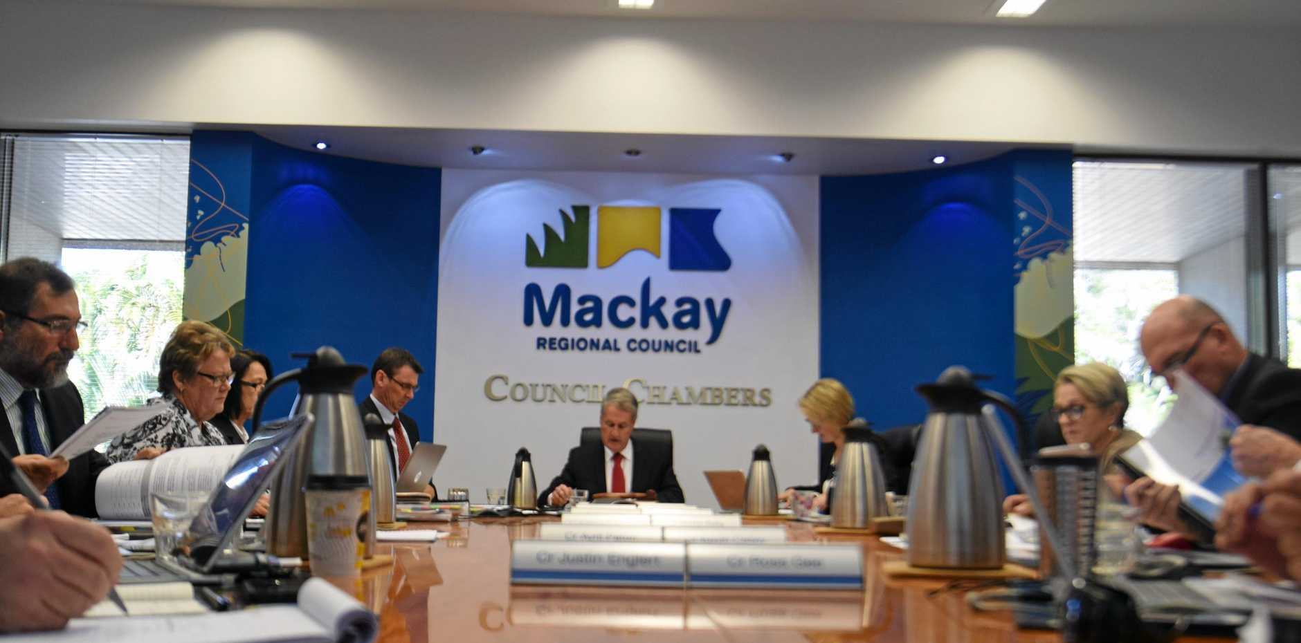 Mackay Regional councillors yesterday, for the second attempt to pass the 2018/19 budget