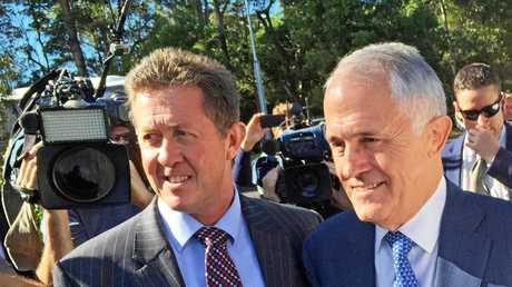 Member for Cowper Luke Hartsuyker with Prime Minister Malcolm Turnbull.