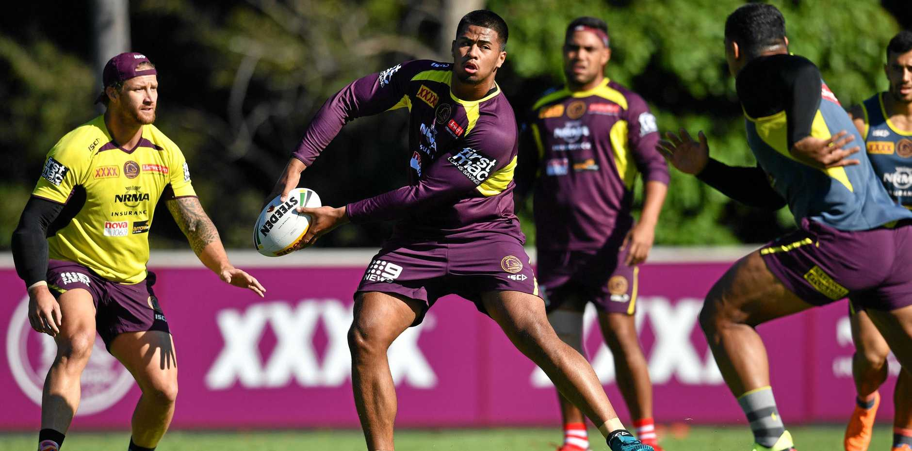 Payne Haas has been secured by the Brisbane Broncos on a lucrative contract. Picture: Darren England/AAP