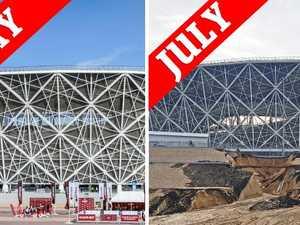 World Cup stadium in ruin already
