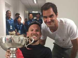 Naked Federer's awkward Aussie ambush