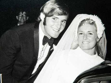 Lynette Dawson and her husband Christopher Dawson on their wedding day on 26 March, 1970.