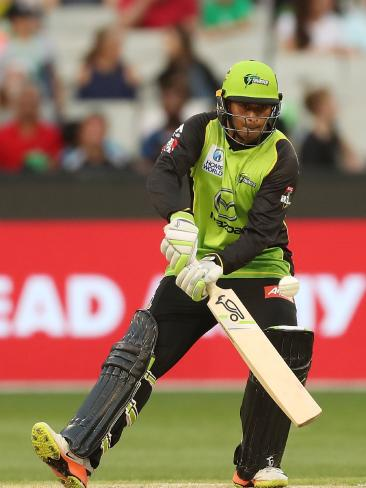 Usman Khawaja pulls off a ramp shot. Picture: Getty
