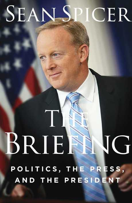 Cover image of Spicer's book, due for release on July 24. Picture: Regnery Publishing via AP