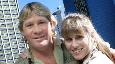 Crocodile hunter Steve Irwin and his wife Terri