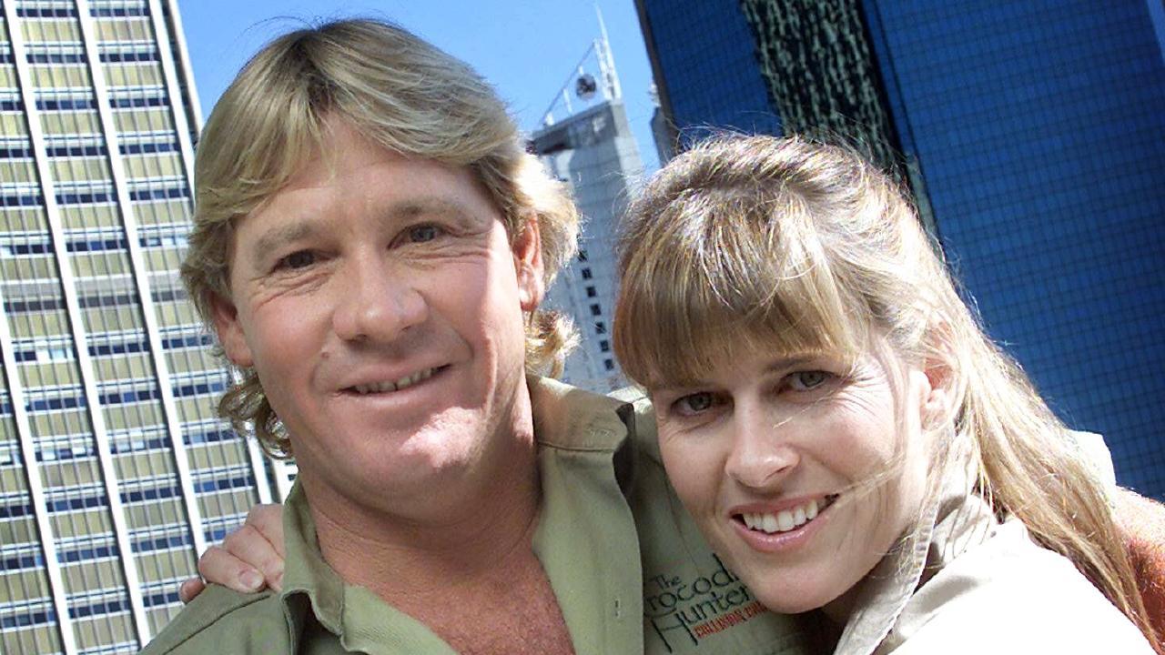 Crocodile hunter Steve Irwin and his wife Terri